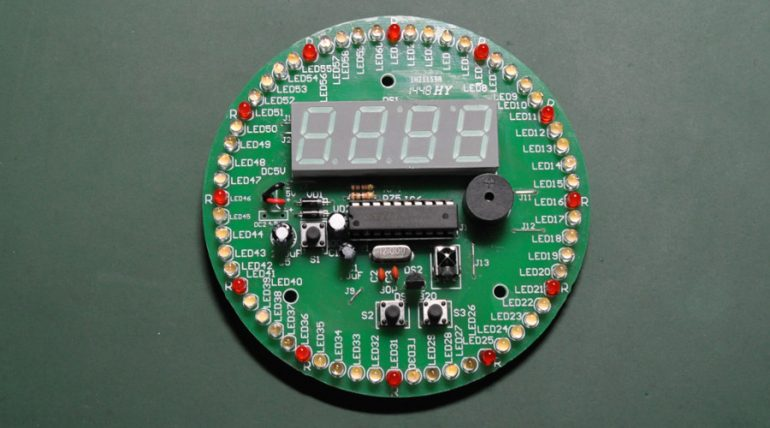 1H21159A Rotating LED Clock